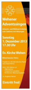 plakat wehener adventssingen - small